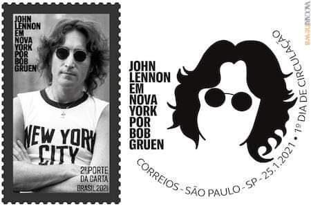 John Lennon ricordato da un francobollo in Brasile